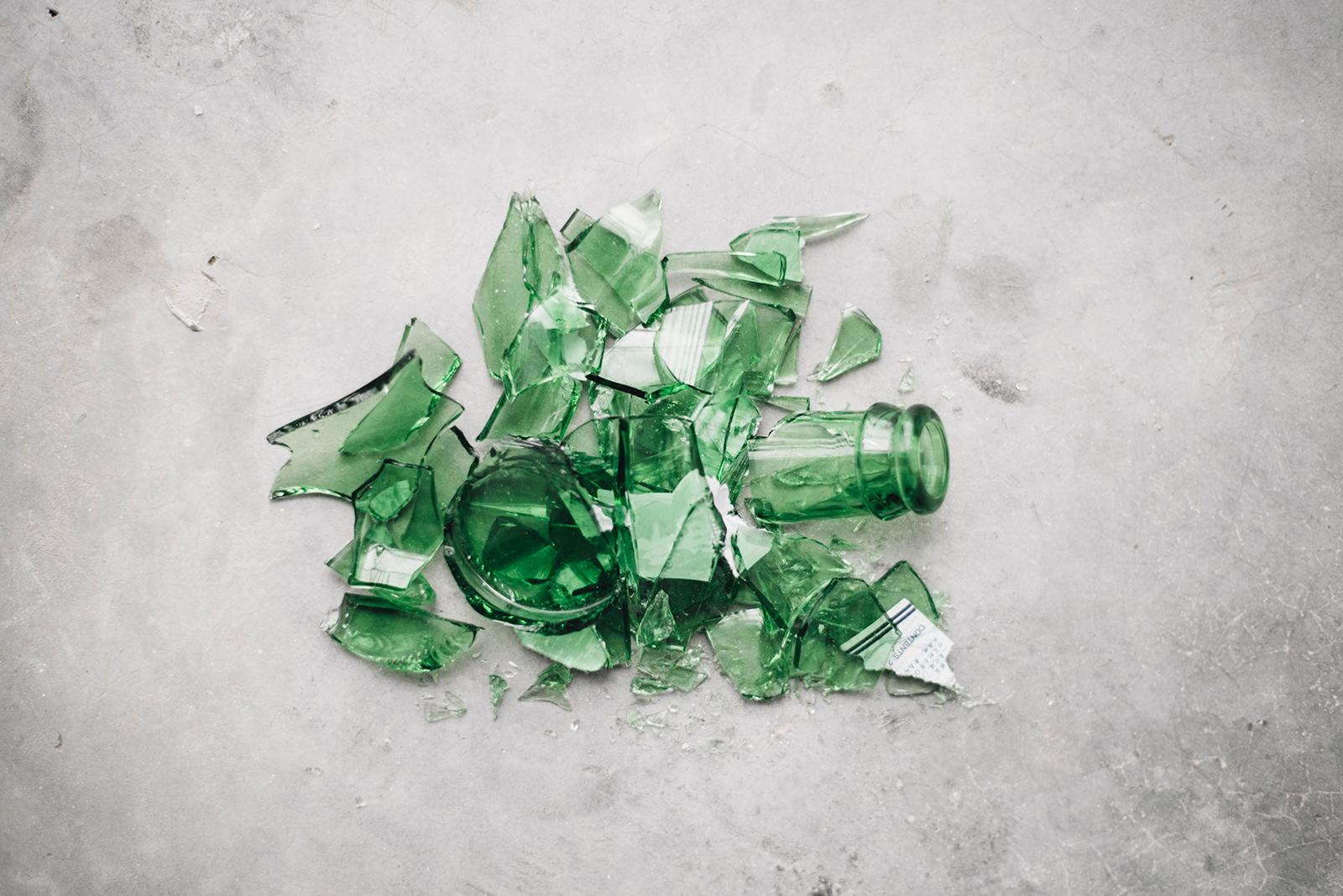 Le verre rejeté du bac vert. Que peut-on y faire?
